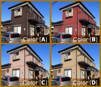 カラーシミュレーションイメージ4パターン