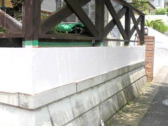 厚木市 外回りの塗装工事 下塗り