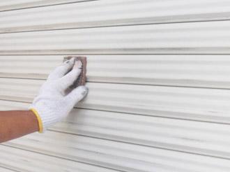 厚木市 塗装工事 雨戸ケレン
