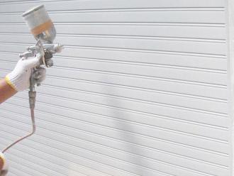 厚木市 塗装工事 凸凹面に吹き付け塗装