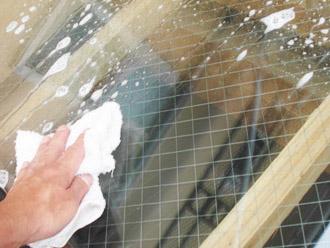 厚木市 塗装工事 窓磨き