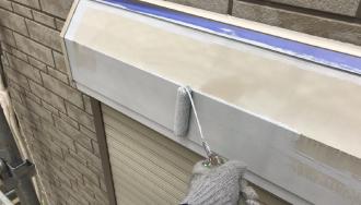 シャッターボックスの塗装