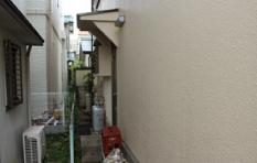 シリコン塗料で外壁塗装したお住まい 外壁アップ