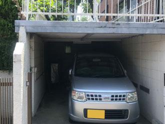 施工前の車庫の様子