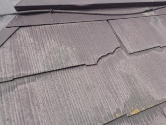 スレート屋根材の欠け