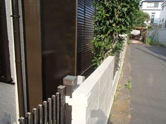 塀も塗装されています