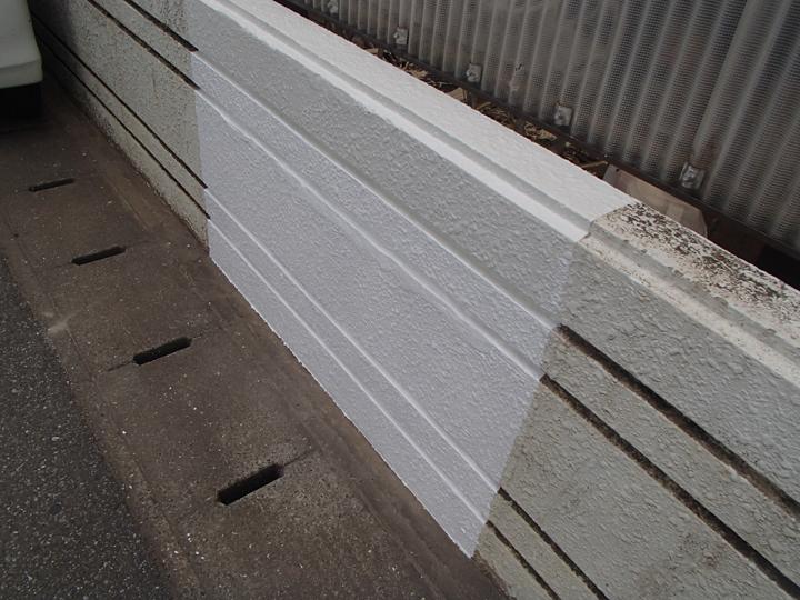 塀の補修と塗装、完了