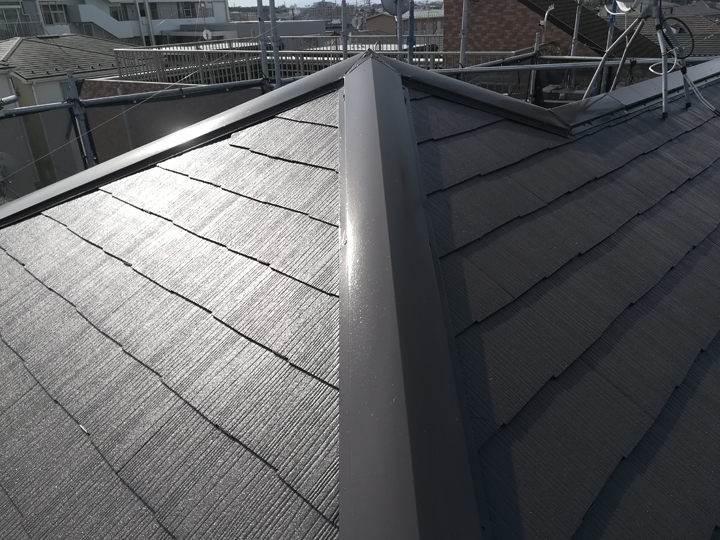 屋根塗装、完了