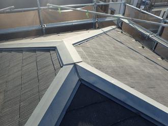 高圧洗浄で綺麗になった屋根
