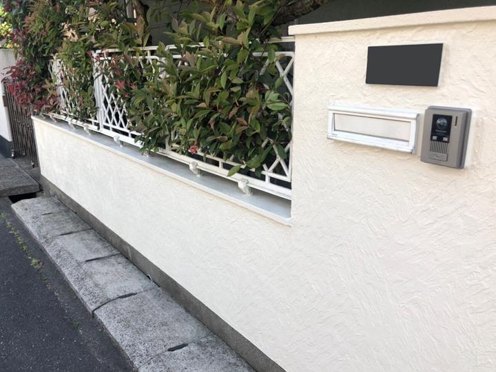 竣工、塀の塗り替え