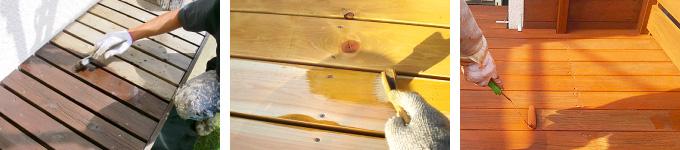 ウッドデッキを塗装する際の塗料選び