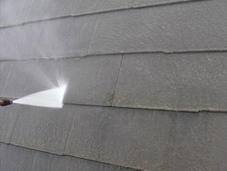 厚木市 屋根塗装 高圧洗浄2