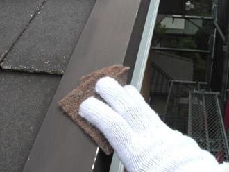厚木市 屋根塗装 下地準備 ケレン