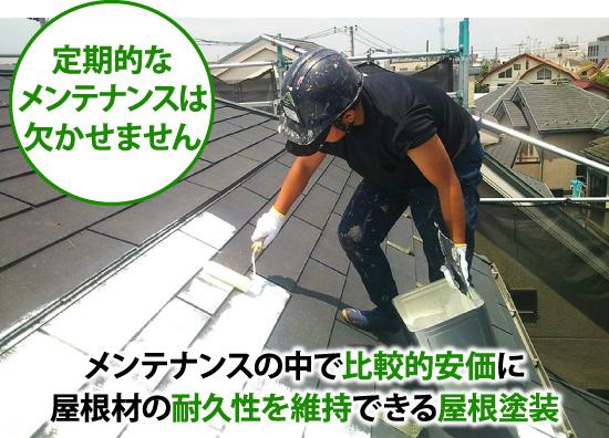 屋根塗装による定期的なメンテナンス